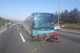 -tem otoyolunda motosiklet kazası