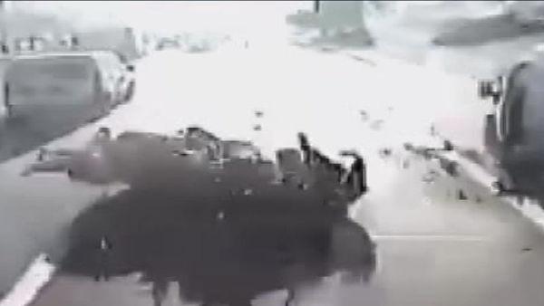 tem otoyolundaki motosiklet kaza anı