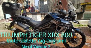 Triumph Tiger XRX 800 -XCA-XCX -XR Yağı Nasıl Değiştirilir?
